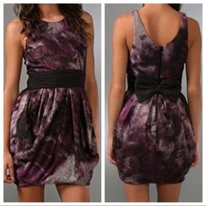Alice + Olivia Marie Tulip Belted Bow Dress